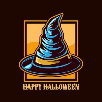 Kapelusz czarodzieja halloween