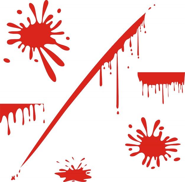 Kapiąca krew na białym tle