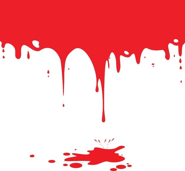 Kapiąca krew odizolowywająca na bielu