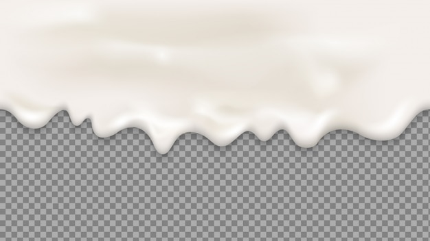 Kapiący biały krem bez szwu