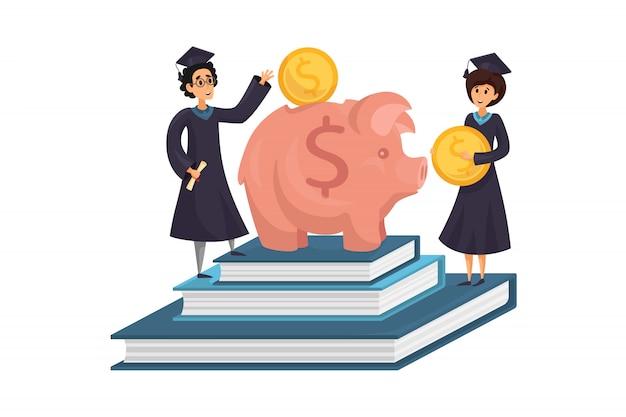 Kapitał, pieniądze, edukacja, koncepcja pożyczki