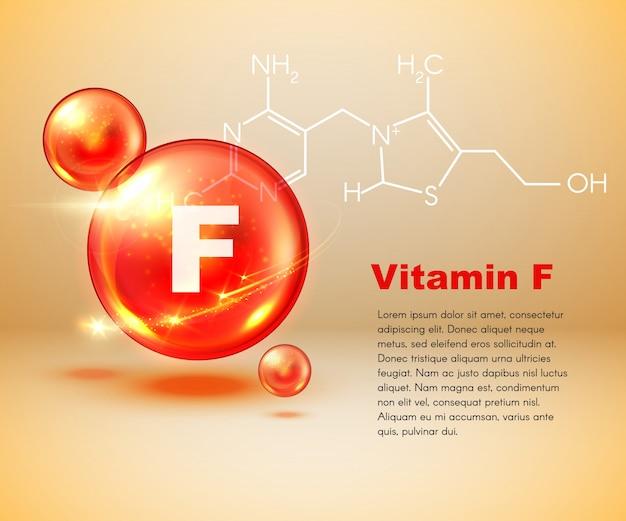 Kapsułka witaminy f, wzór chemiczny zdrowej żywności
