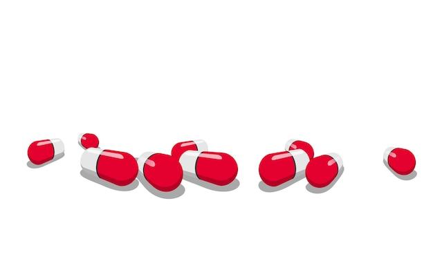 Kapsułki leku na białym tle