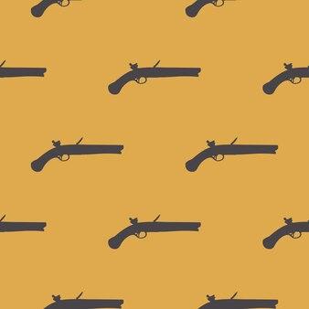 Karabiny maszynowe wzór wzór na białym tle. ilustracja w stylu kreatywnym i wojskowym