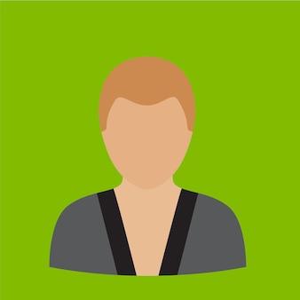 Karate człowiek płaski ikona ilustracja na białym tle wektor symbol znak