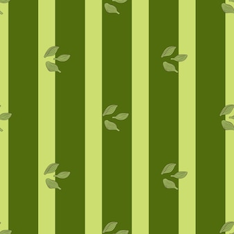 Kardamon wzór na paski zielone tło. ornament szkic roślin ładny. geometryczny szablon tekstury dla tkaniny. projekt ilustracji wektorowych.