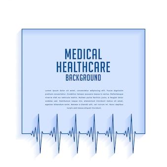 Kardiograf bicia serca linie tło medyczne i opieki zdrowotnej