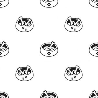 Karma dla psów miska wzór ilustracja