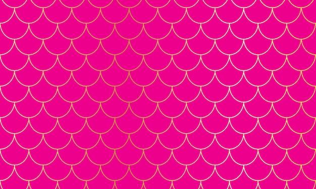 Karmazynowy tło. różowy wzór. łuski syreny. squama rybna.