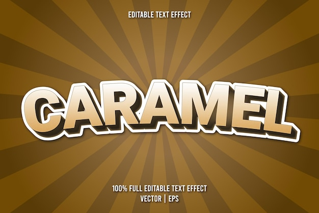 Karmelowy styl komiksowy z edytowalnym efektem tekstowym
