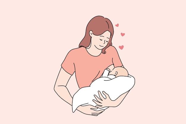 Karmienie piersią szczęśliwe macierzyństwo i koncepcja dzieciństwa