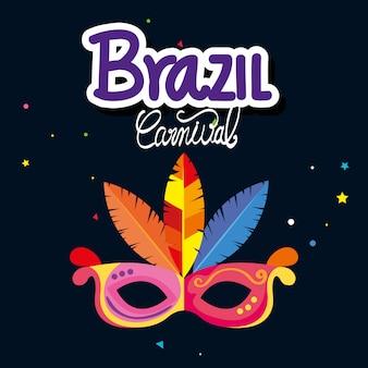 Karnawał brazylia z maską karnawał