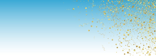 Karnawał golden star panoramiczne niebieskie tło