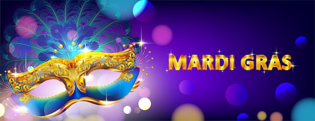 Karnawałowa maska mardi gras na plakat