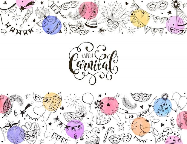 Karnawałowe kartkę z życzeniami