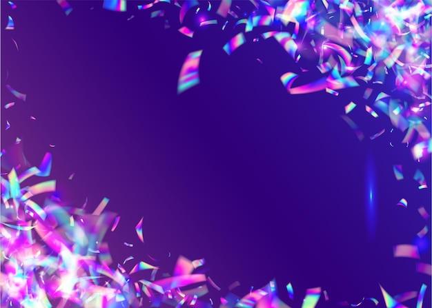 Karnawałowe konfetti. rozmycie carnaval gradient. spadający blask. folia fiesty. przezroczysty efekt. brokat art. niebieskie błyszczy imprezowe. dyskotekowy pryzmat. różowe konfetti karnawałowe