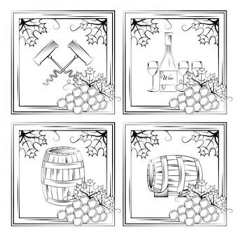 Karta alkoholu do picia wina