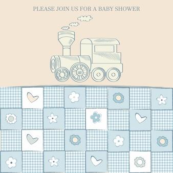 Karta baby boy prysznic