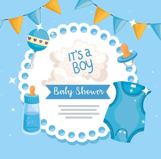 Karta baby shower dla chłopca