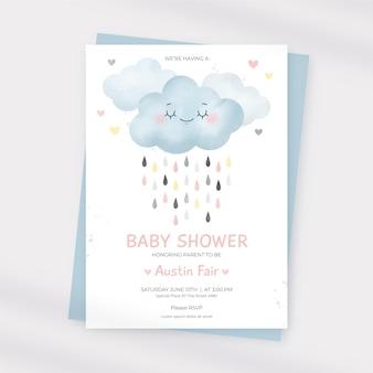 Karta baby shower od chuva de amor