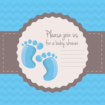 Karta baby shower szczęśliwy zaproszenie