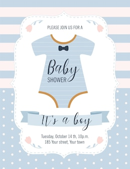 Karta baby shower. to chłopiec.