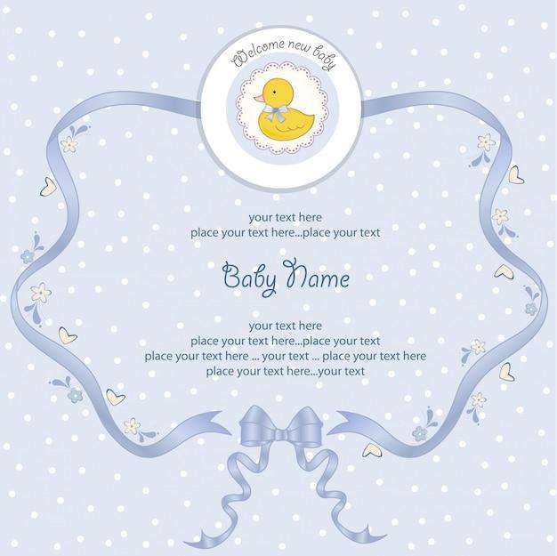 Karta baby shower z małą kaczuszką