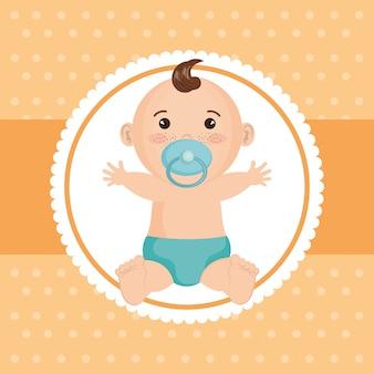 Karta baby shower z małym chłopcem
