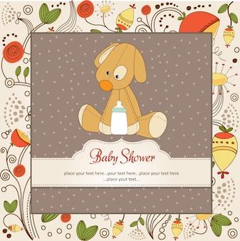 Karta baby shower ze szczeniakiem