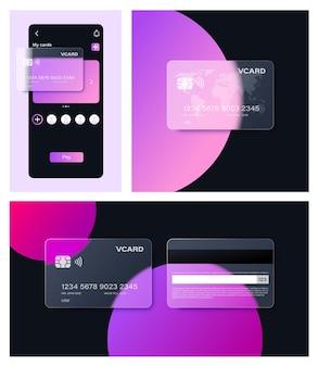 Karta bankowa glassmorphism jest popularna