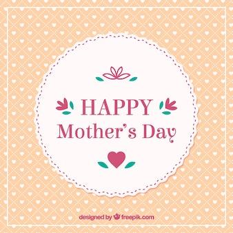 Karta chic retro szczęśliwy dzień matki
