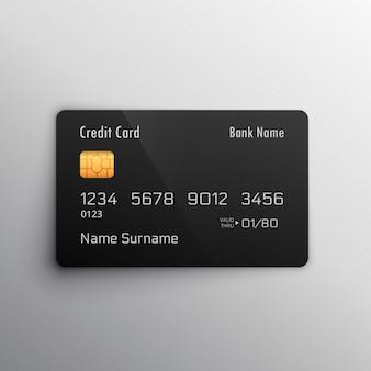 Karta debetowa kredytowej makieta