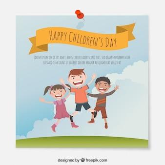 Karta dni śmieszne dzieci