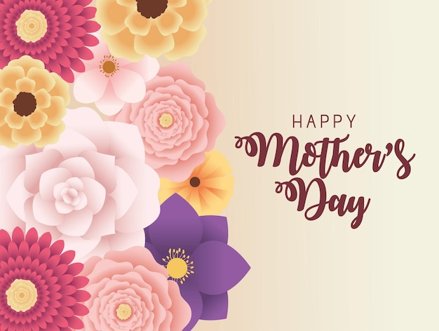 Karta dnia matki z kwiatami