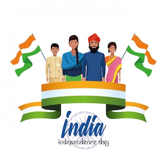 Karta dnia niepodległości indii