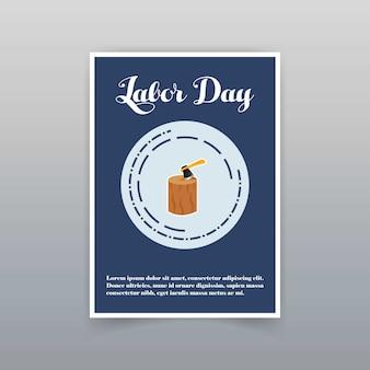 Karta dnia pracy z unikalnym i kreatywnym wektorem projektowania