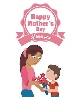 Karta dzień matki happy