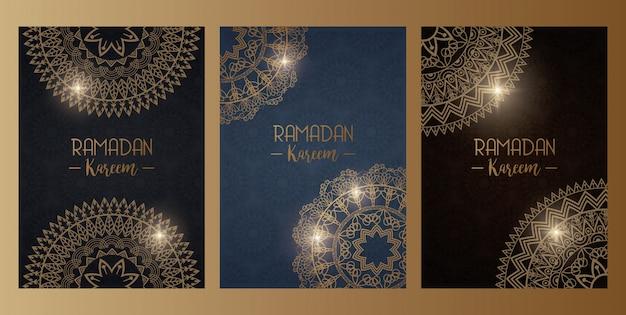 Karta eid mubarak z dekoracją mandali