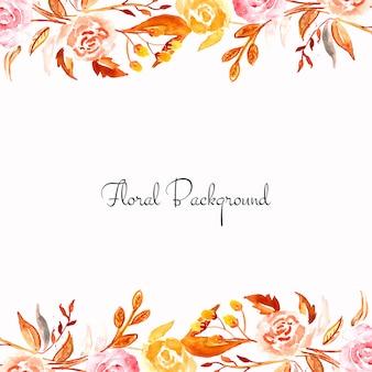 Karta elegancki kolorowy kwiat akwarela