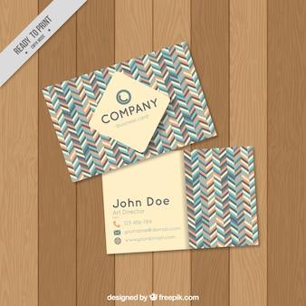Karta firmowa z kształtami w pastelowych kolorach