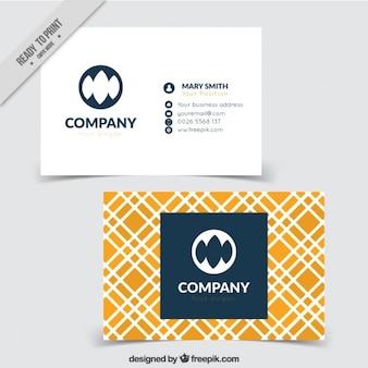 Karta firmy w abstrakcyjnym stylu