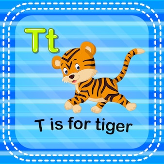 Karta flash litera t jest dla tygrysa