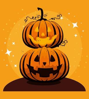 Karta halloween z dyni