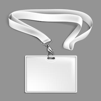 Karta identyfikacyjna smyczy ze wstążką