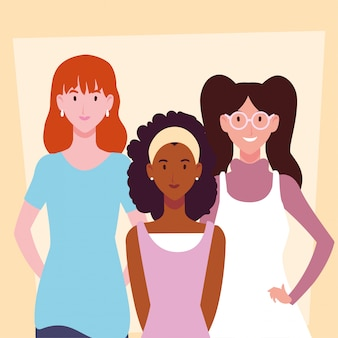 Karta kobiet o różnych pozach