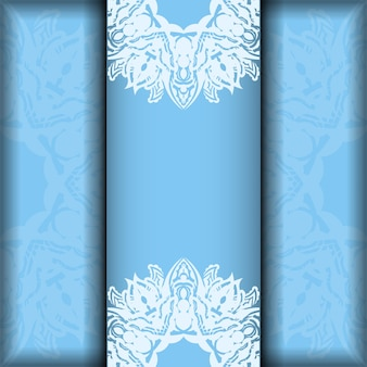 Karta kolorów niebieski z rocznika biały wzór dla swojego projektu.