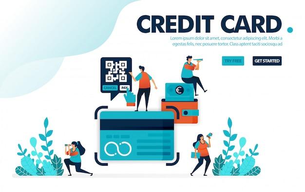 Karta kredytowa, ludzie ubiegają się o pożyczkę karty kredytowej w banku.