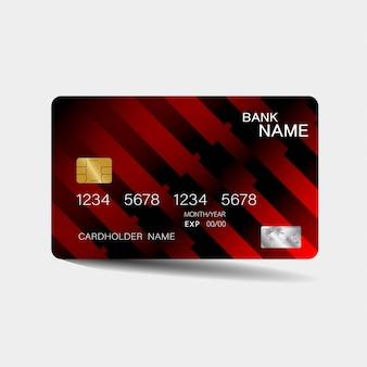 Karta kredytowa z czerwonymi elementami