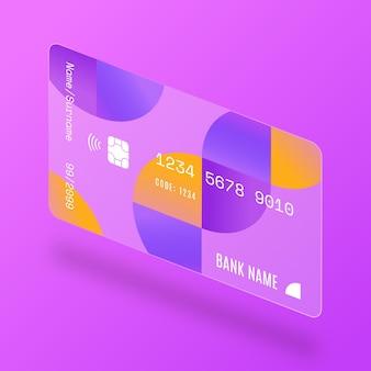 Karta kredytowa z efektem szkła izometrycznego