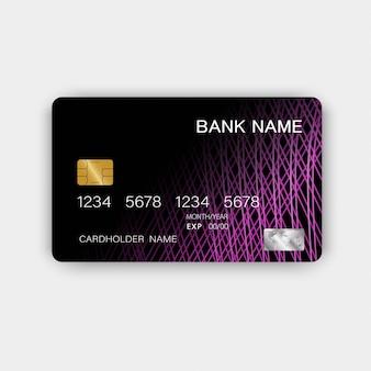 Karta kredytowa z fioletowymi elementami